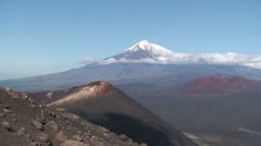View of the Tolbachik volcano Stock Footage