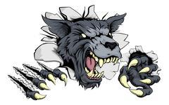 Wolf or Werewolf ripping through Piirros