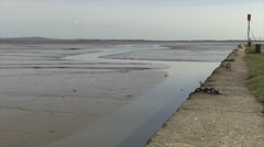 Langstone Harbour at Low Tide in Hampshire Stock Footage