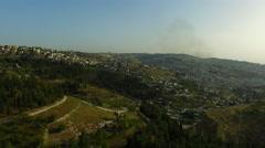 4K Israeli Agricultural Land in Near Jerusalem Stock Footage