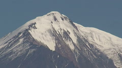 View of the Tolbachik volcano craters. Stock Footage