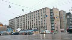 "Moscow, Russia, 2015 - Tverskaya street, ""Izvestia"" building. Stock Footage"