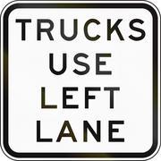 Trucks Use Left Lane In Australia - stock illustration