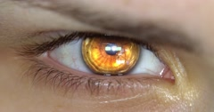 Macro Close Up Shoot on Eye blinking with VFX CC Stock Footage