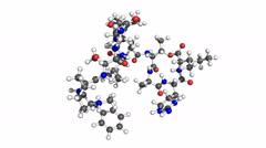 Teixobactin molecule Stock Footage