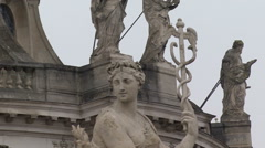 Palace of Versailles. Sculptures of the main entrance. Stock Footage