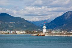 The lighthouse in Alanya, Turkey Stock Photos