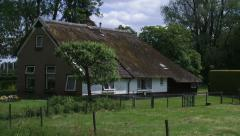Pan - Small farmstead of a  the former rural colony, FREDERIKSOORD Stock Footage