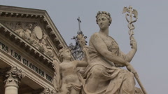 Palace of Versailles. Sculptures of the main entrance. - stock footage
