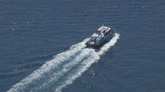 A ferry in the Aegean Sea Near Greece Stock Footage