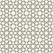 Abstract seamless geometric islamic wallpaper pattern Stock Illustration