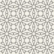 Abstract seamless geometric islamic wallpaper pattern - stock illustration