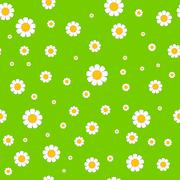Abstract seamless wallpaper pattern with chamomiles - stock illustration