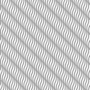 Abstract wavy seamless wallpaper pattern - stock illustration