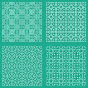 Stock Illustration of Abstract seamless traditional arabian patterns