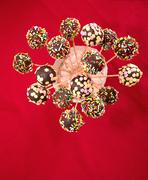 Stock Photo of Colorful cakepops top view