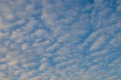 Stock Photo of Nice clouds with sunrise light