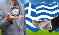 Deadline for pay debt, Greece's Debt Crisis concept - stock photo