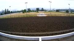 Horse Racing - Track &  Jockeys - Super Wide Stock Footage