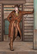 Cowboy - stock illustration