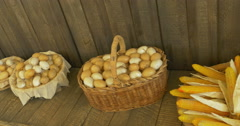 Eggs corn bread Stock Footage