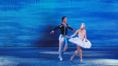 Moscow Ballet - Swan Lake - stock footage