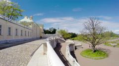 Russia. Petersburg. Oranienbaum  Big Menshikovsky palace. Time lapse with turn Stock Footage