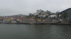 Beautiful panorama of Episcopal Palace and other buildings,  Porto Stock Footage