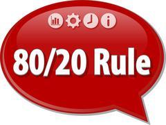 80/20 Rule Business term speech bubble illustration Stock Illustration