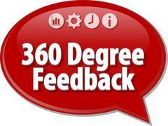 360 Degree Feedback Business term speech bubble illustration Stock Illustration