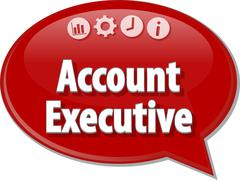Account executive Business term speech bubble illustration Stock Illustration
