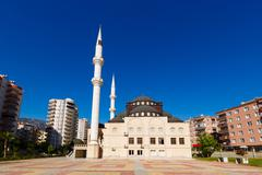 The Mosque in the province of Mahmutlar, Alanya - stock photo