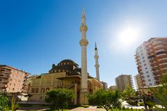 The Mosque in the province of Mahmutlar, Alanya Stock Photos