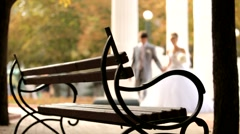 Newlyweds Sat Down To Rest Stock Footage