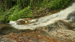 Fast moving water at the bottom of a waterfall Stock Footage