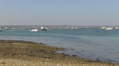 Langstone Harbour in Hampshire Stock Footage