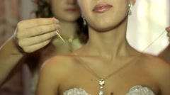 Luxurious Jewelry For The Bride - stock footage