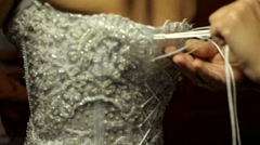 Bridal Corset - stock footage