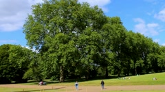The Kensington Gardens and Hide Park, London, UK Stock Footage