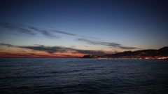 Stock Video Footage of Sunset in the bay of Alanya