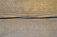 Crack on the piece of wood Stock Photos