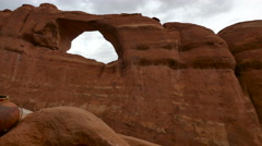 Arches National Park Gourd on Rock Panning Right to Left - stock footage