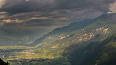 Rhone valley Switzerland storm coming time lapse Stock Footage