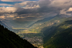 Rhone valley Switzerland storm crossing late afternoon time lapse 6K Stock Footage