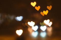Abstract heart bokeh background, Love Valentine's day background - stock photo