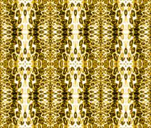 Seamless ellipses pattern ocher brown Stock Illustration
