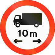 Lorry Length Limit in Bangladesh Stock Illustration
