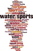 Water sports word cloud Stock Illustration