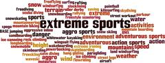Extreme sports word cloud Stock Illustration
