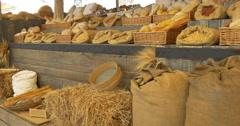 Cereal bread pasta market Stock Footage